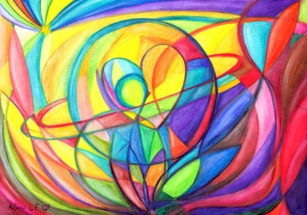 Aline Lamiable Ferraton aquarelle pour la paix n°7 (21x29.7cm) 2015