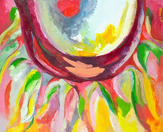 Aline Lamiable Ferraton Renaissance huile sur toile au couteau (50x61cm) 2012
