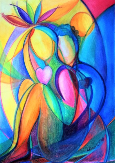 Aline Lamiable Ferraton Unis crayon aquarellable (21x29.7cm) 2015