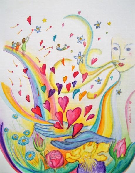 Aline Lamiable Ferraton Duo côté féminin crayons aquarellables (24x30cm) 2017